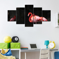 New Modern 5 Piece Set Poster Abstract HD Prints Red Swan Oil Painting On Canvas Home Wall Art Picture For Living Room Decor