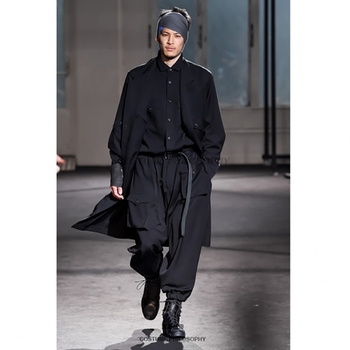 Spring new style men's windbreaker in the long style loose multi-pocket design dark long sleeve coat windbreaker        S-6XL!!