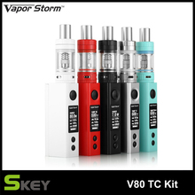 Original Electronic Cigarette Kit Vapor Storm V80 with 80W Vape MOD and 4.5 ML EC II Tank not include 18650 battery