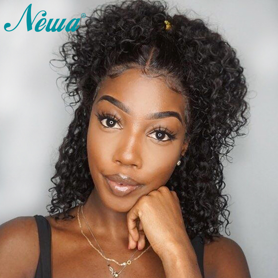 Newa Hair Short Lace Front Human Hair Wigs Pre Plucked With Baby Hair Natural Wave Lace