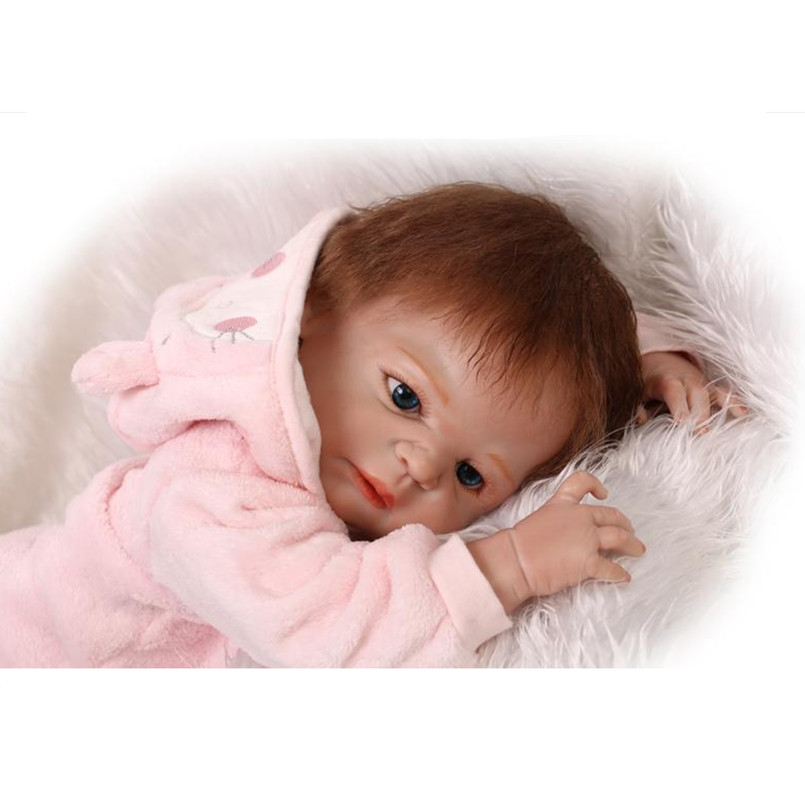 Fashion Real Looking Silicone Reborn Baby Dolls Toys for Girls Children,52 CM Lifelike Baby Newborn Doll with Clothes 20 inch silicone reborn dolls sleeping baby bonecas with clothes real looking newborn baby doll toys for girls children