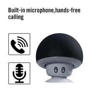 Image 4 - Mini alto falante bluetooth portátil, mini alto falante com microfone estéreo à prova dágua, cogumelo para celular e computador