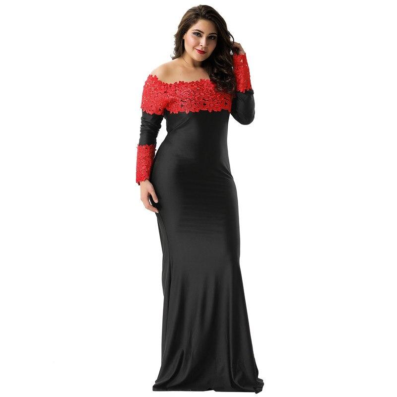 b02628af93e0982 Comeonlover осенне-зимние Свадебные платья Noche ларгос де Mujer Длинные  рукава кружевное длинное платье с вырезом лодочкой женские вечерние платья .