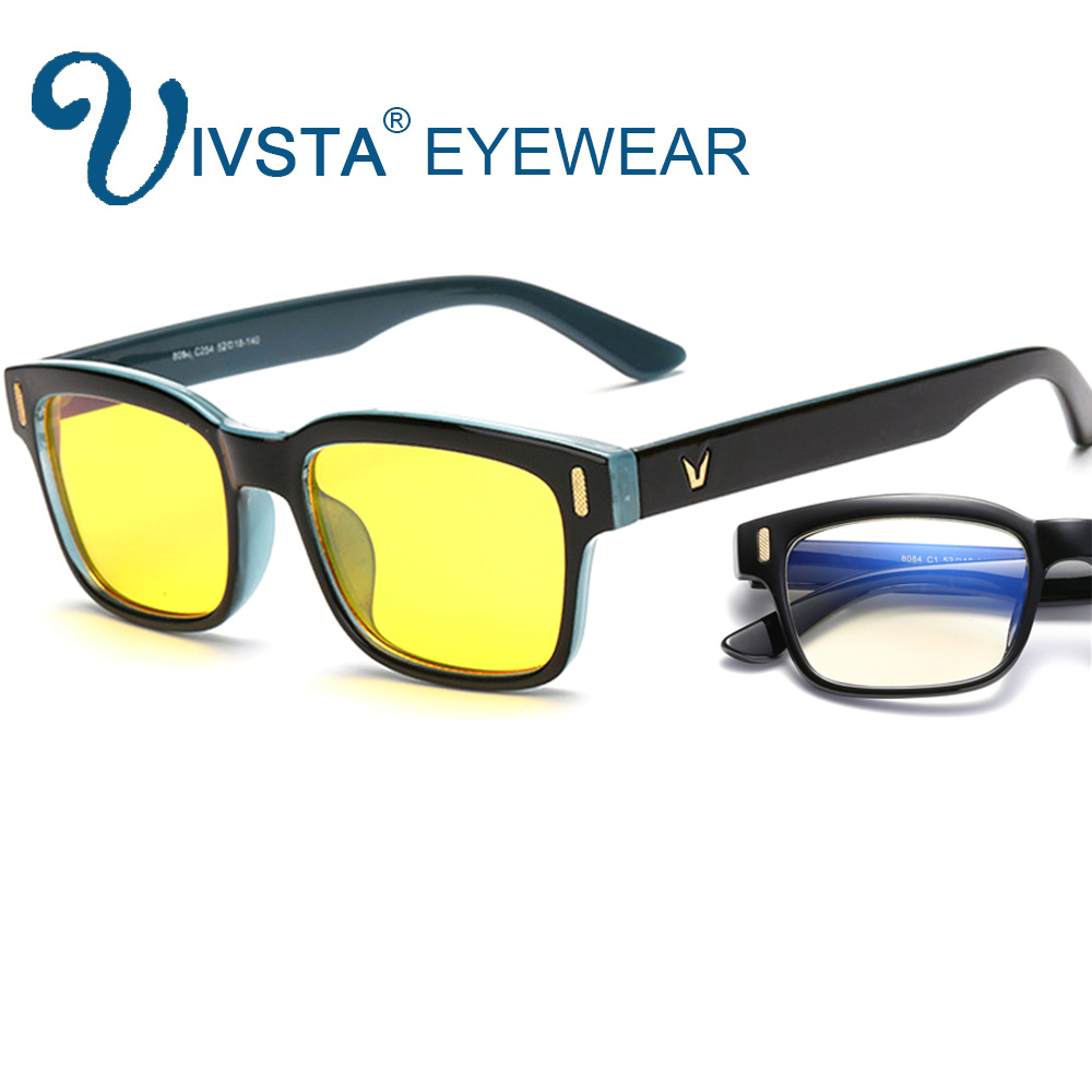 IVSTA Anti Blue Rays Computer Glasses for Computer Protection Gaming Glasses UV400 Radiation-resistant Goggles Spectacles 8084