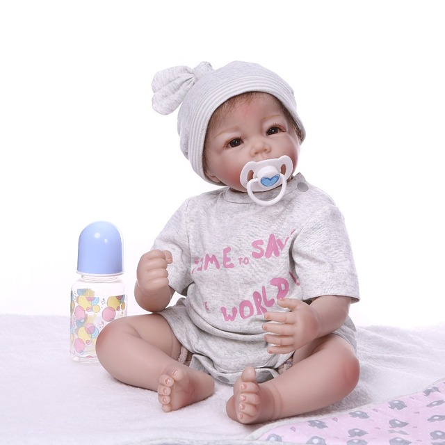 Reborn Doll Toys Soft Silicone Baby Bonecas Cute baby 5