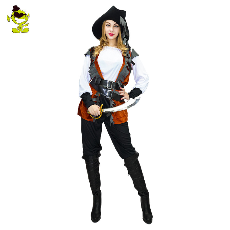 Adult Pirate Costume Womens Sexy Matador Pirate Captain Cosplay Stage Performance Halloween Party Costumes