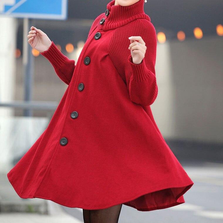 Manteaux Nouvelle Wolle Abrigos Frau A Femmes Lâche coréen 2018 red Laine Cheminée gray Long De Mujer ligne Invierno Hiver Manteau Black Automne x4FzTqX