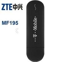 Lote de 100 pcs ZTE MF195 desbloqueado 3G GSM 21 Mbps USB Modem de Banda Larga Móvel, DHL grátis