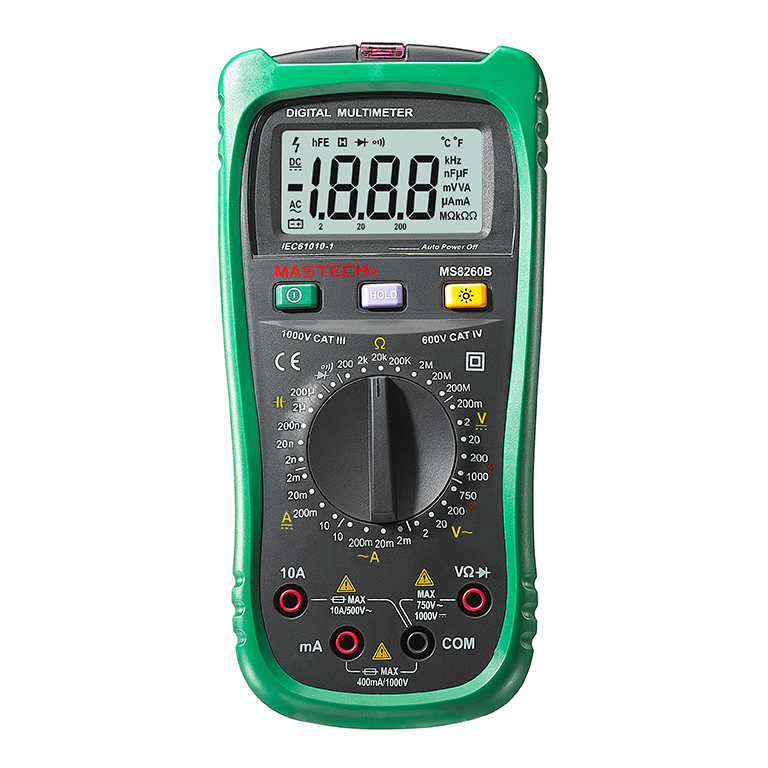 Mastech MS8260B Digital Multimeter DMM VOLT STICK Tester Electrical LCR Meter Non-contact voltage Detector mastech my62 handheld digital multimeter dmm w temperature capacitance