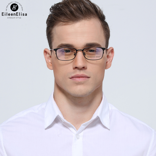 EE Titanium Frame Spectacle Frame Clear Lens Eye Glasses Frames For ...