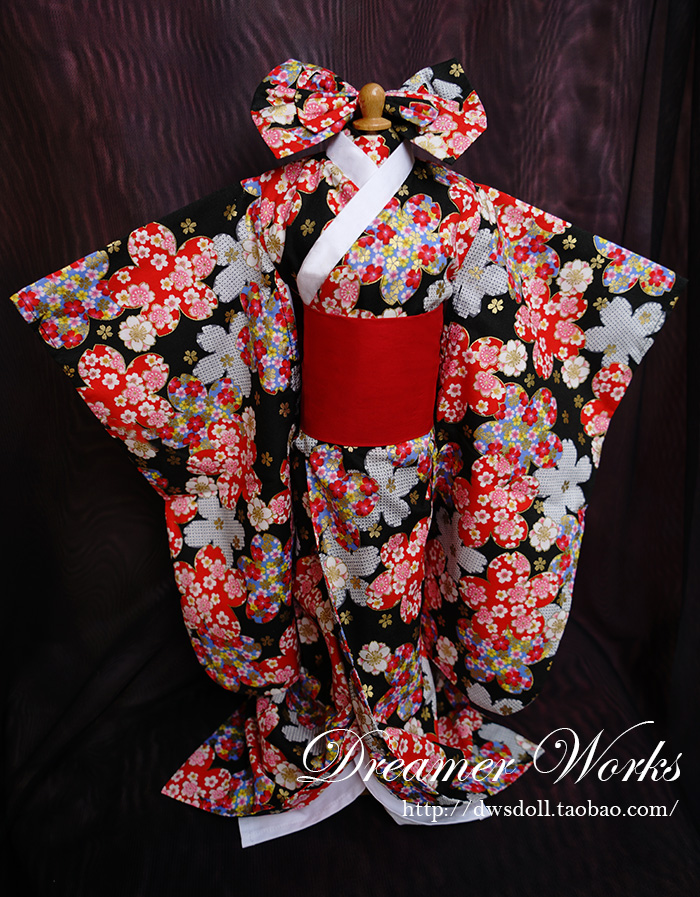 1/4 1/3 scale BJD doll clothing Japanese kimono for BJD/SD EID Women accessory.Not included doll,shoes,wig and other 17C3326