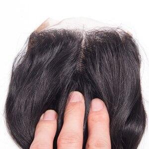 Image 5 - loose wave bundles with closure brazilian hair weave bundles with closure non remy wet and wavy human hair bundles with closure