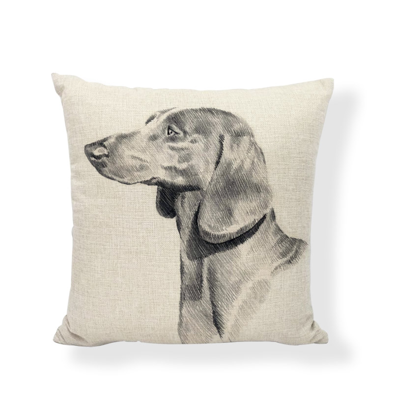 New Design Dachshund Cushion Covers Cute Animal Seagull Butterfly Painted Home Decor Living Room Couch Gifts Throw Pillows Cases