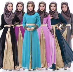 Мусульманское арабское, с длинными рукавами кафтан исламский халат абайя Дубайский мусульманский Малайзия кафтан украшение для манжет