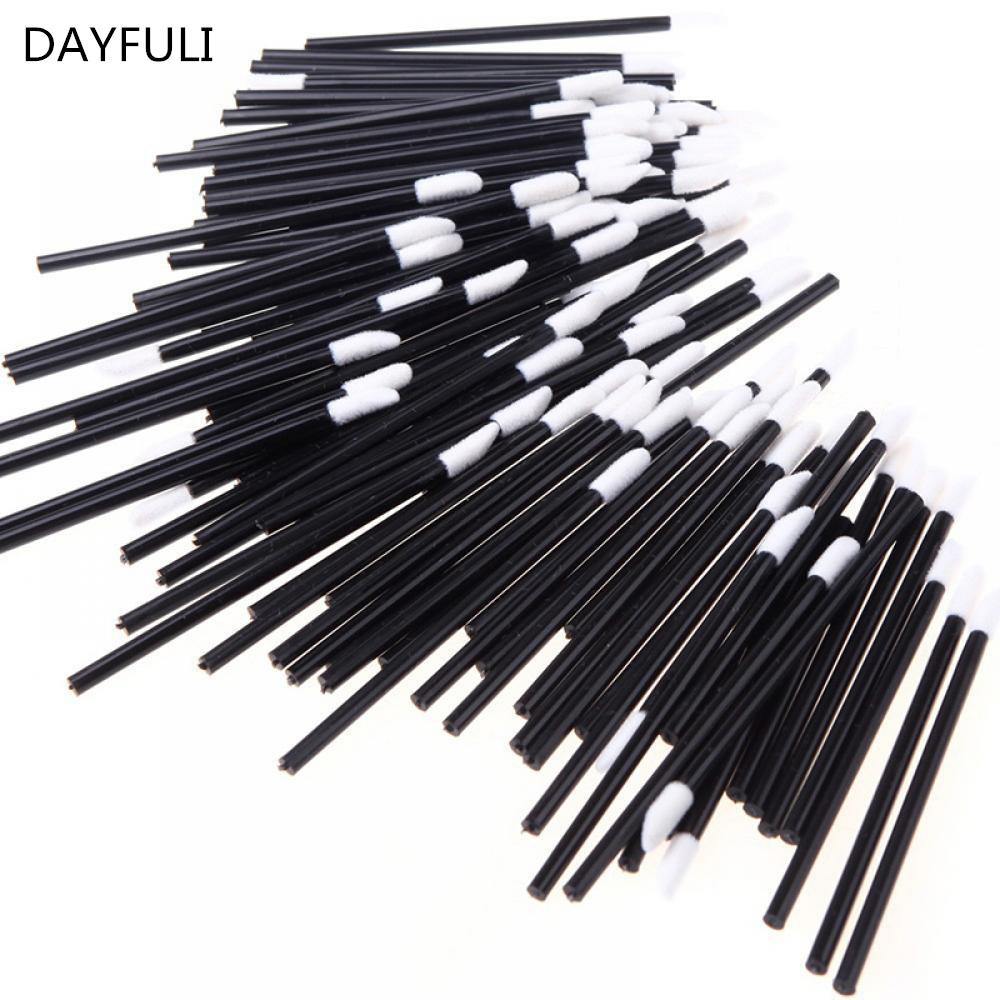 10PCS  Fiber Micro Brushes Disposable Applicator Swab For Eyelash Extension Mascara Brush Eye Makeup Glue Remove Tool
