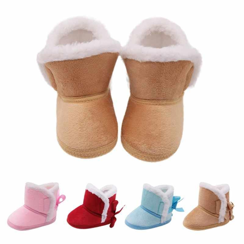 WEIXINBUY/зимняя обувь для маленьких мальчиков и девочек; русская зимняя теплая обувь для младенцев; Детские ботиночки из искусственного меха для девочек; кожаные ботинки для маленьких мальчиков