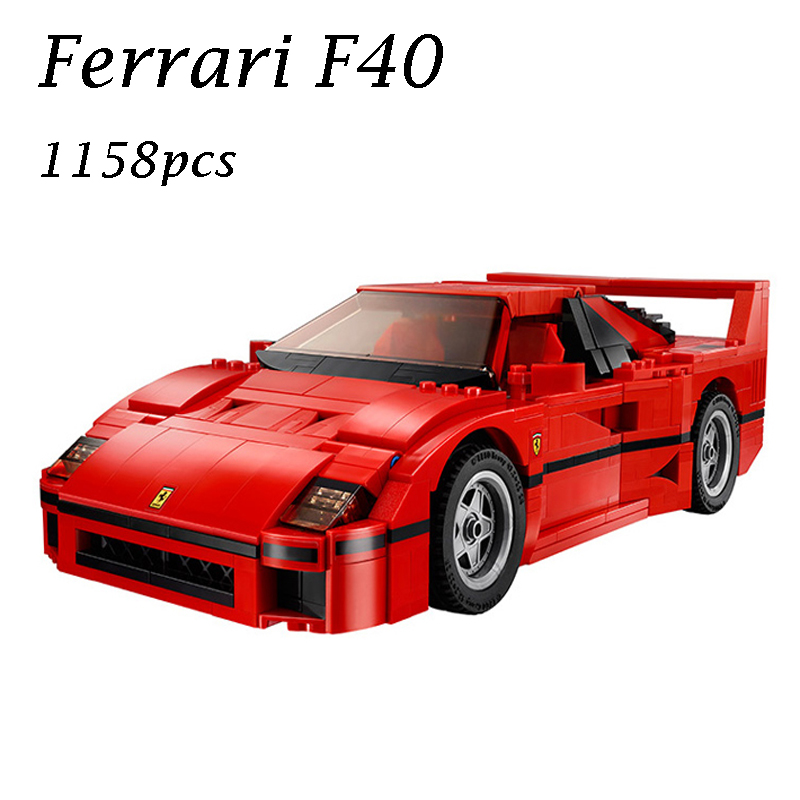 LEPIN 21004 F40 Sports Car Racing Model Building Kits figures Blocks Bricks Toys for children gift Compatible with 10248 lepin 22001 pirate ship imperial warships model building block briks toys gift 1717pcs compatible legoed 10210