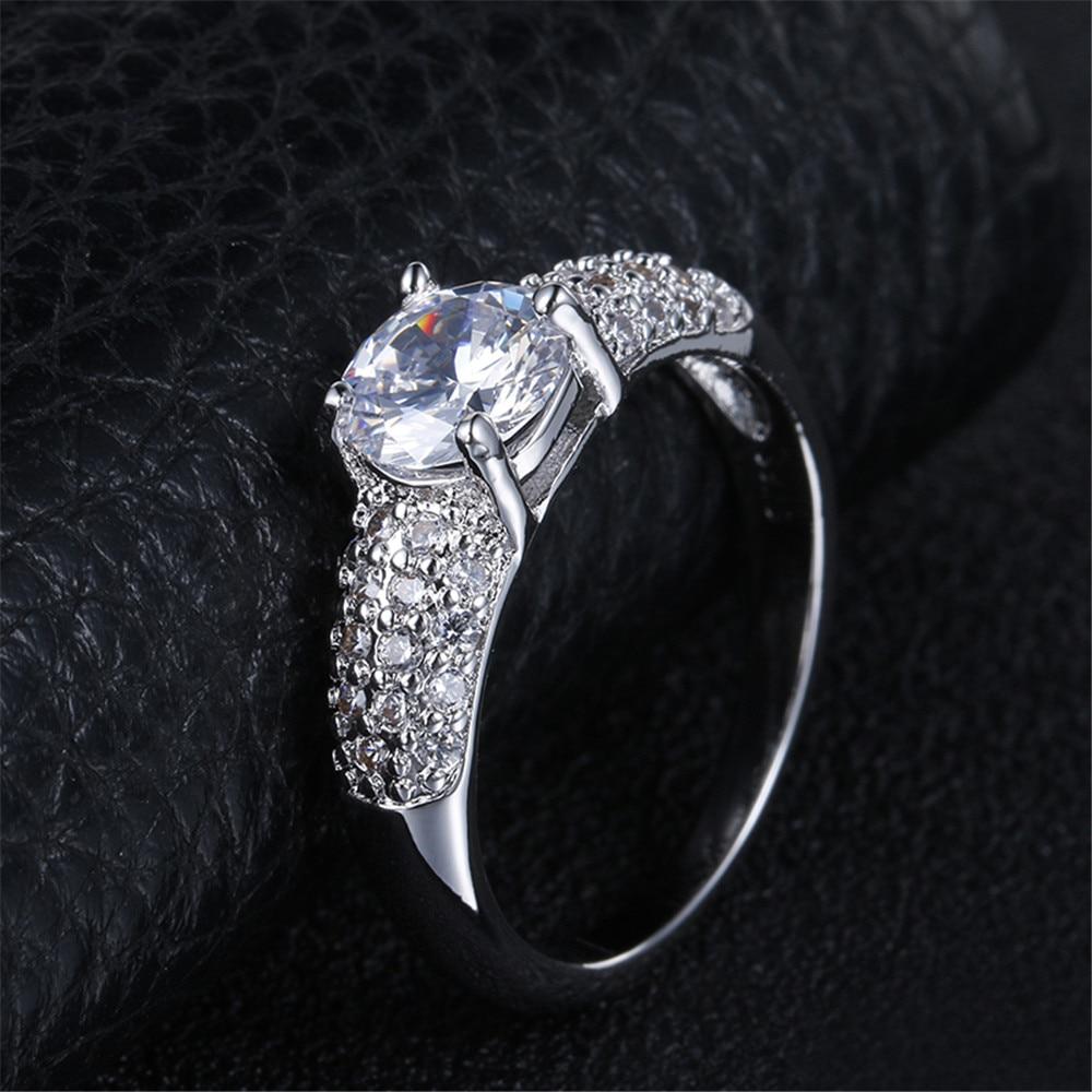 DODO 925 Unaza Argjendë Sterling Për Gratë Dasma AAA Kubike Zirkon - Bizhuteri të modës - Foto 4
