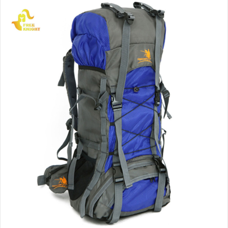 все цены на Free Knight Outdoor 60L Climbing Bags High-quality Nylon Waterproof Mountaineering Tourist Backpack Trekking Sport Camping Bag онлайн