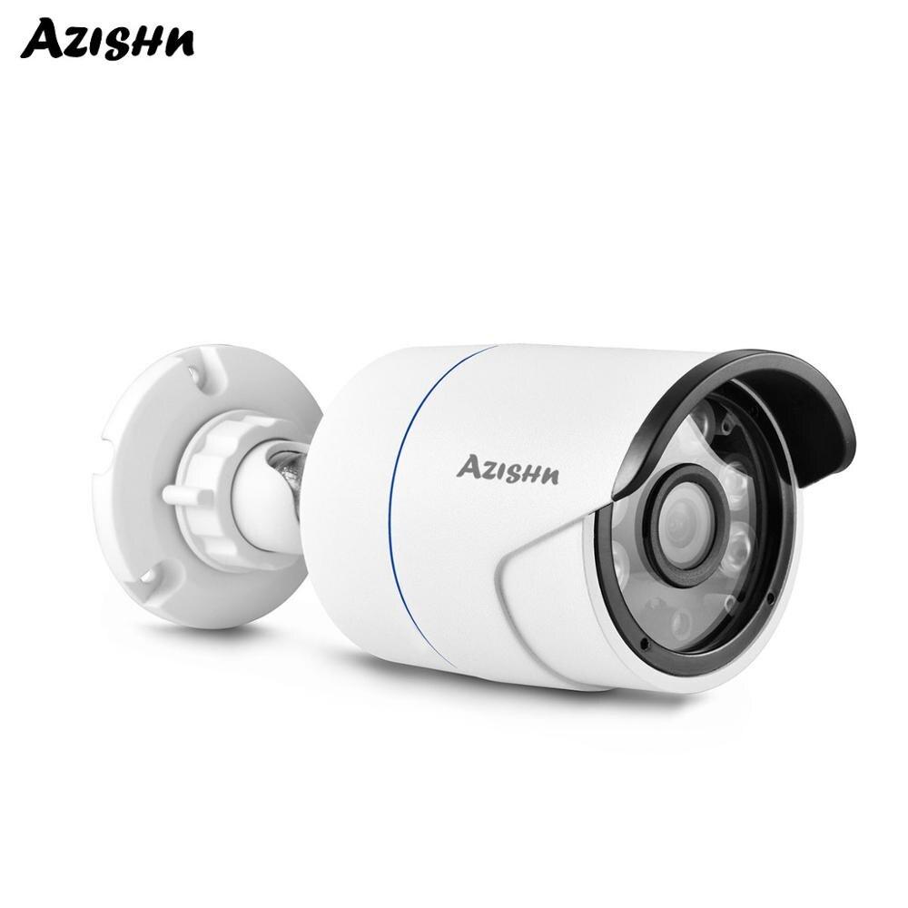 AZISHN 5MP セキュリティ IP カメラ金属防水 H.265 ソニー IMX335 センサー Onvif CCTV 監視弾丸ネットワークカム POE オプション -