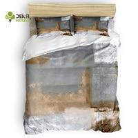 Dear House Duvet Cover Set Retro Graffiti Art Paint Duvet Cover 4 Piece Bedding Set