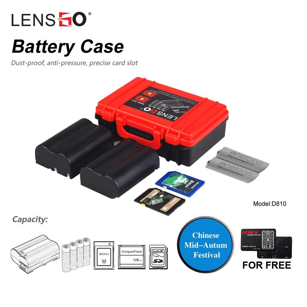 цена LENSGO Camera Memory Card Case Battery Multifunction Plastic Holder SD CF XQD Card Storage Box for Canon Sony Fuji Nikon Olympus