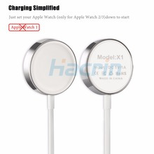 Hacrin For Apple Watch Charger 1m/3.2ft Magnetic Wireless Charging USB Cable Adapter Charge for Apple Watch 2 3 38mm/42mm