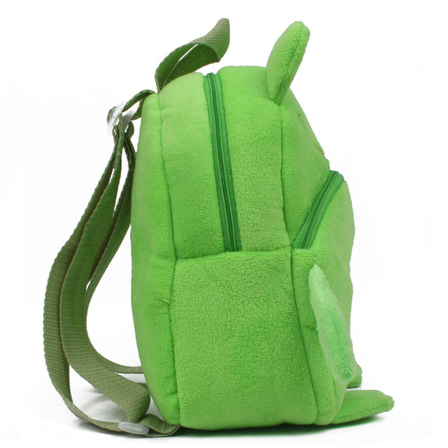Good quality kindergarten baby boy girl plush schoolbags frog pattern children mini satchel backpacks candy bags toy Kids & Baby Bags
