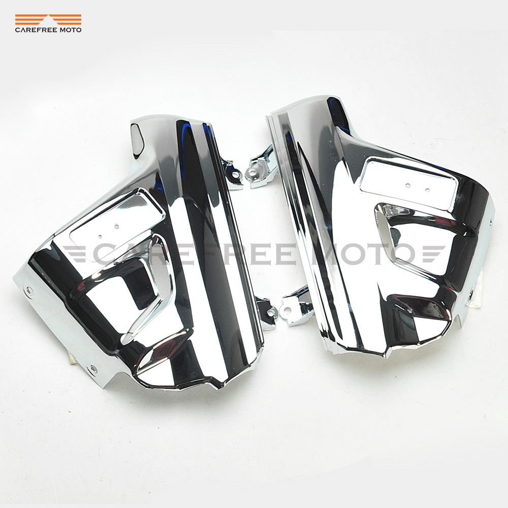 Chrome Motorcycle Front Fender Cover Moto Mudguard Frame Decoration case for Honda GL1800 GOLDWING 2001 2002 2003 2004 2005 2001 2005 pontiac sunfire chrome window trim moldings 2pc 2002 2003 2004 01 02 03 04 05 gt