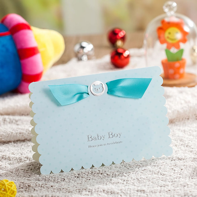 Personalized Baby Shower Birthday Kid Party Invitation Card Baby Boy
