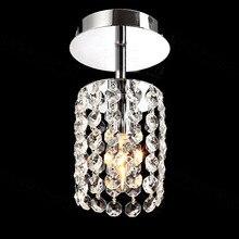 Mini Modern Luxury led Teardrop Crystal Chandelier for Bedroom Corridor Hallway Wall Ceiling Lamp Chrome Base Led Downlight стоимость