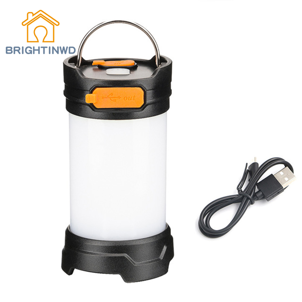 USB Cable Rechargeable Tent Hook Lamp Light Camp Light with hanging hook Poratable LED Camping Magnet Lantern Flashlight