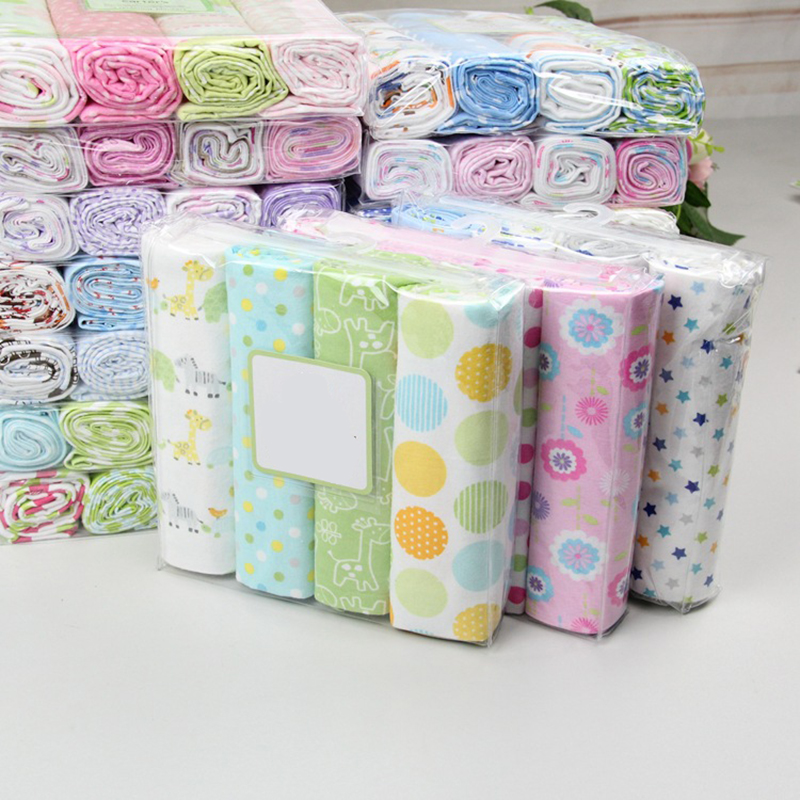 NEW color 4pcs//pack 100/%cotton flannel receiving baby blanket newborn