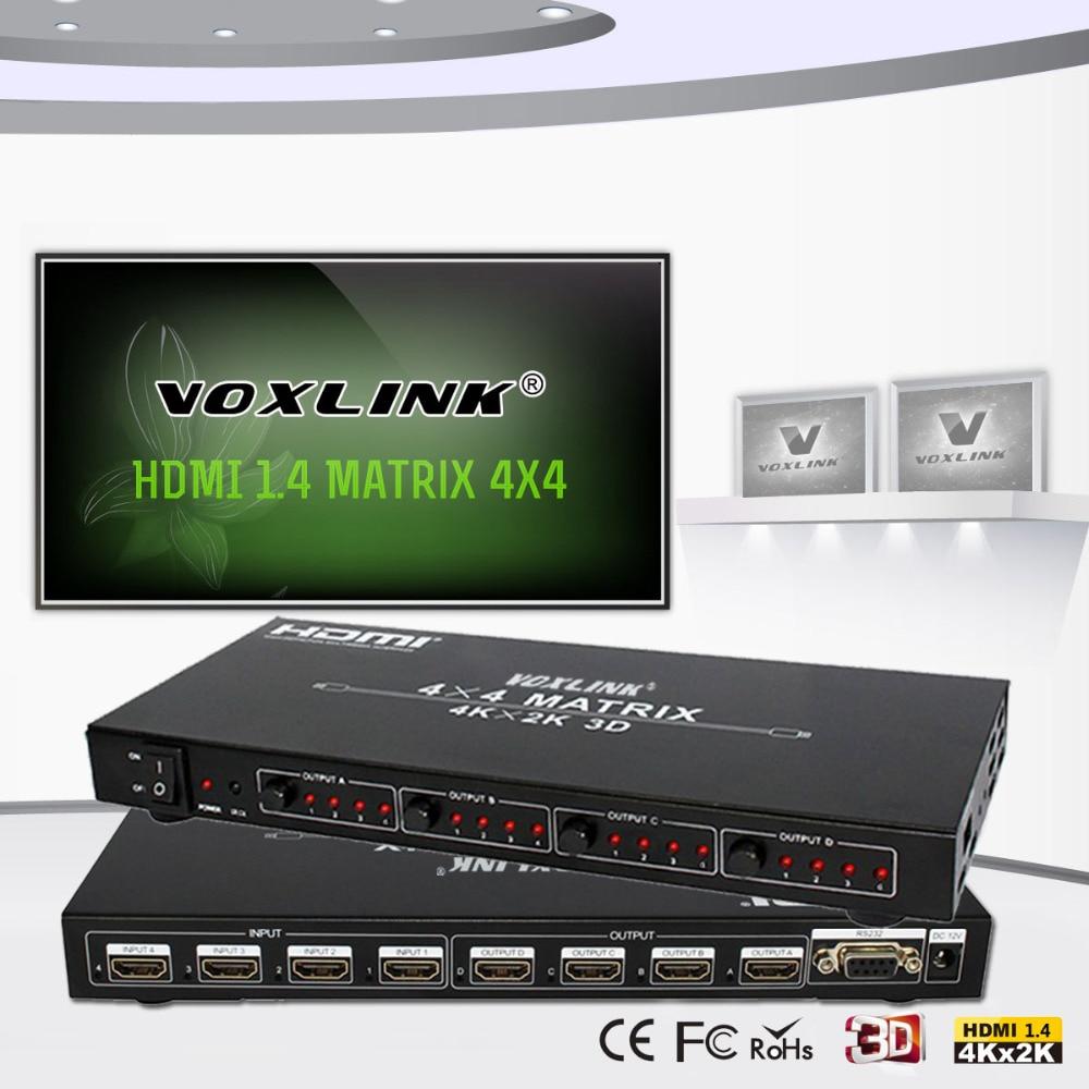 HDMI Matrix 1.4 HDMI 4X4 SWITCH SPLITTER 4kx2k 3D HDTV HDMI splitter 1080P@120Hz,and 1080P 3D@60Hz