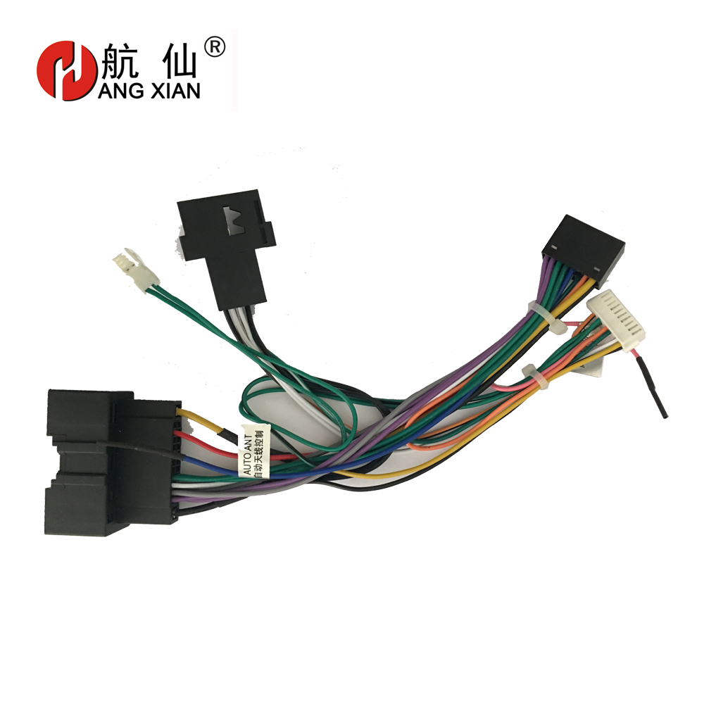 US $12.02 35% OFF|2 din Car Radio ISO Radio Plug Power Adapter Wiring on