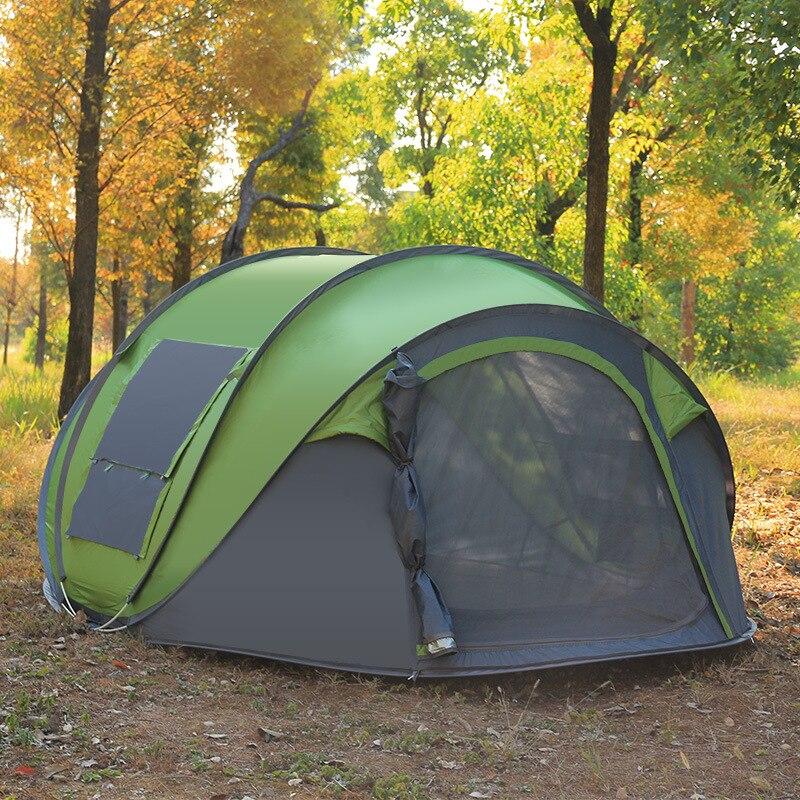 Grand espace jeter tente Pop Up vitesse ouverte Camping plage tente extérieure automatique coupe-vent imperméable lancer tente 290*200 cm