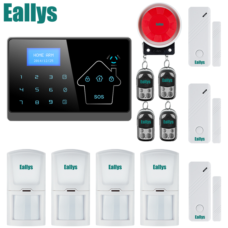 Wireless GMS/SMS Home Burglar Intruder IOS/Android Alarm System Touch Keypad kerui black white intelligent wireless gms sms call home burglar intruder ios android app security alarm system touch keypad