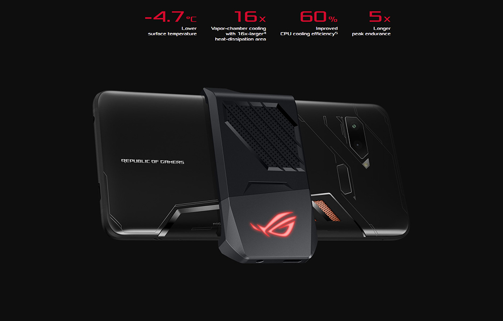 "ASUS ROG Telephone ZS600KL 8GB RAM 128GB ROM Gaming Phone Snapdragon 845 2.96GHz 6.0""18:9 AMOLED Screen Android8.1 4000mAh OTA 49"