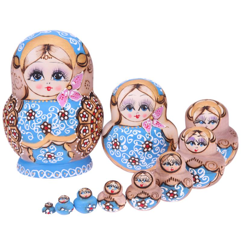 Wreath Russian Matryoshka Dolls Wooden Flower Strawberry Round Stomach  Russian Matryoshka Dolls Handmade Nesting Toys russian phrase book