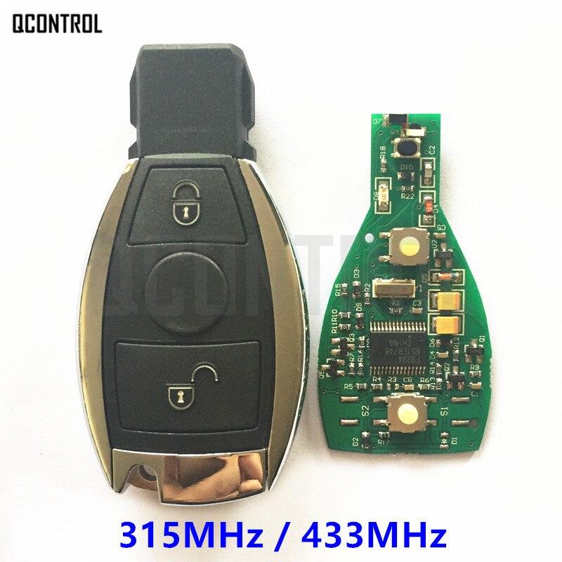QCONTROL Car Remote Smart Infrared Key for Mercedes Benz 2 Buttons Replace Original NEC and BGA