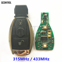 QCONTROL Car Remote Smart Key For Mercedes Benz 2 Buttons Can Replace Original NEC And BGA
