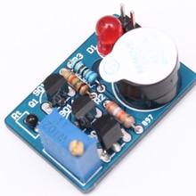 2pcs DIY Kit Electronic Temperature Control Sound Light Alarm Suite DC 3~5V Kit ICSK061A Electronic Circuit Training