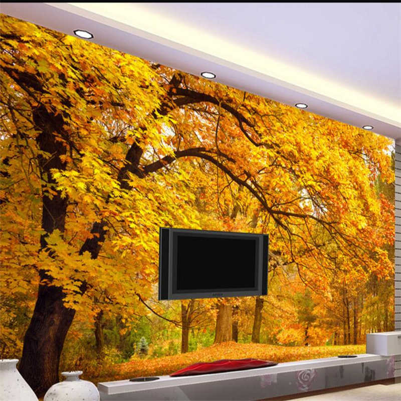 Beibehang papel де parede папье пользовательские обои золотой пол золото улица диван для террасы гостиной фон behang