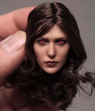 Collection Red Eye 1/6 Scale Elizabeth Olsen Scarlet Witch Head Sculpt for 12