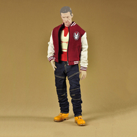 1 6 Scale Iron Man Fashion Clothes Set Models Accessories For 12 Inches Figures Baseball Jacket