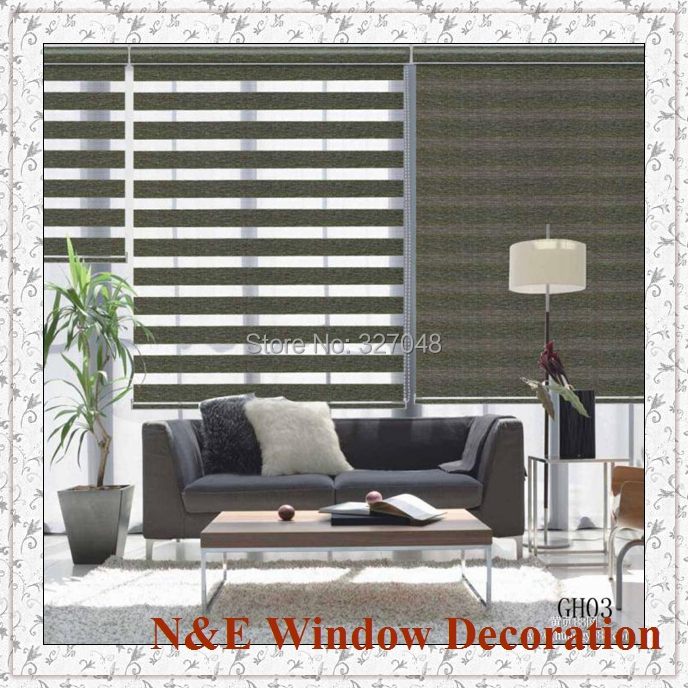 Free Shipping Window Blinds Zebra Roller Blinds Shades And Curtain Wall For Living Room Window Shade