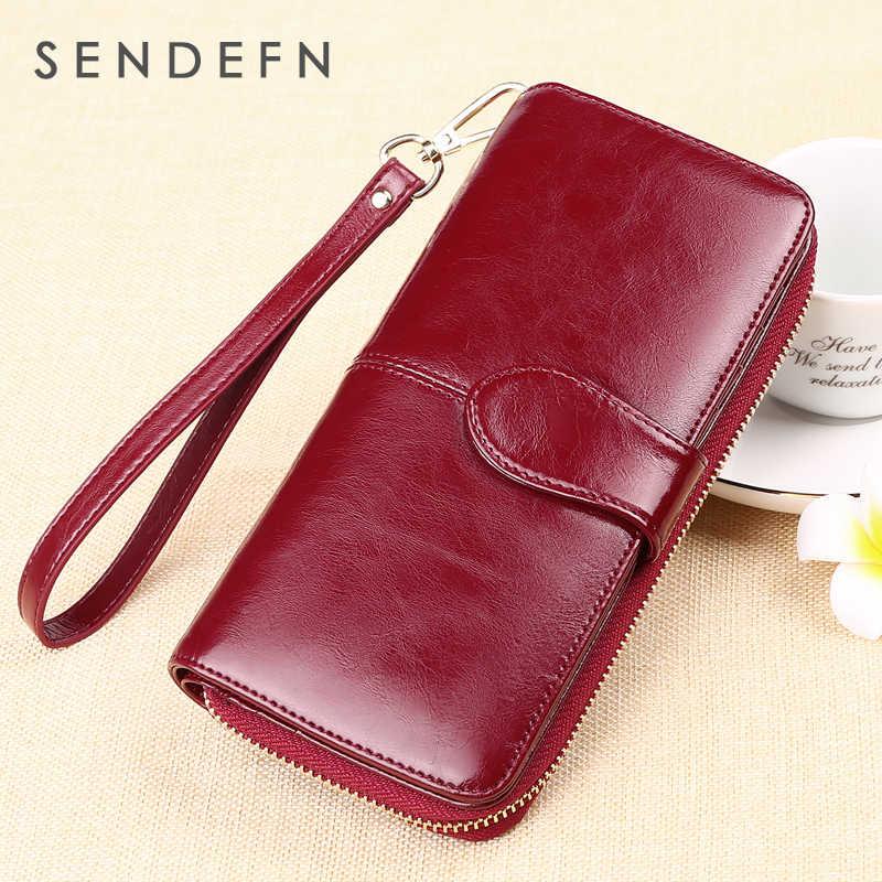 SENDEFN горячая Распродажа брендовый кожаный женский кошелек длинный женский клатч сумка для денег кошелек бумажник на молнии Feminina 8002-69