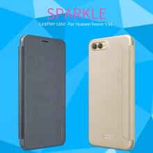 NILLKIN durumda Huawei onur için görünüm 10 yüksek kalite deri Flip Case Huawei onur görünüm 10 kılıf kapak onur v10