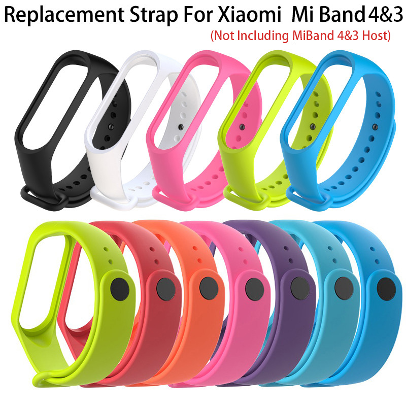 Silicone Strap For Xiaomi Mi Band 4 3 Smart Replacement Wrist mi xiaomi watchband