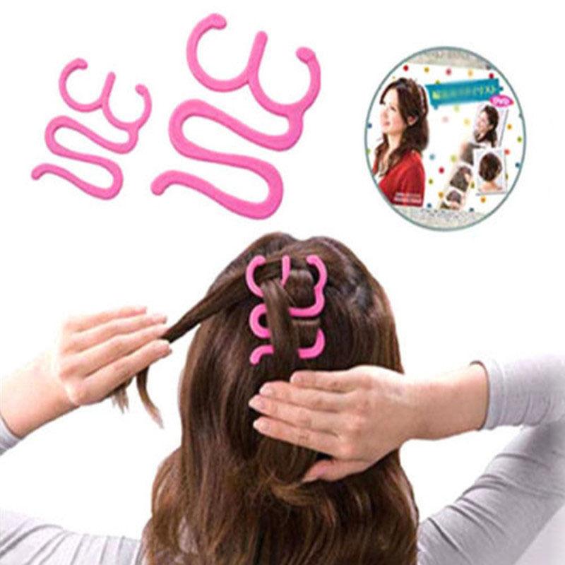 1Pc High Quality Headwear Girls Magic Hair Tie Twist Braid Tool Holder Clip Hair Style Maker Hairpin Hair Styling Tools